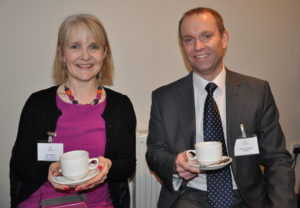 Jill White of Align Property and Construction Ltd and Dave Gawler of NatWest.
