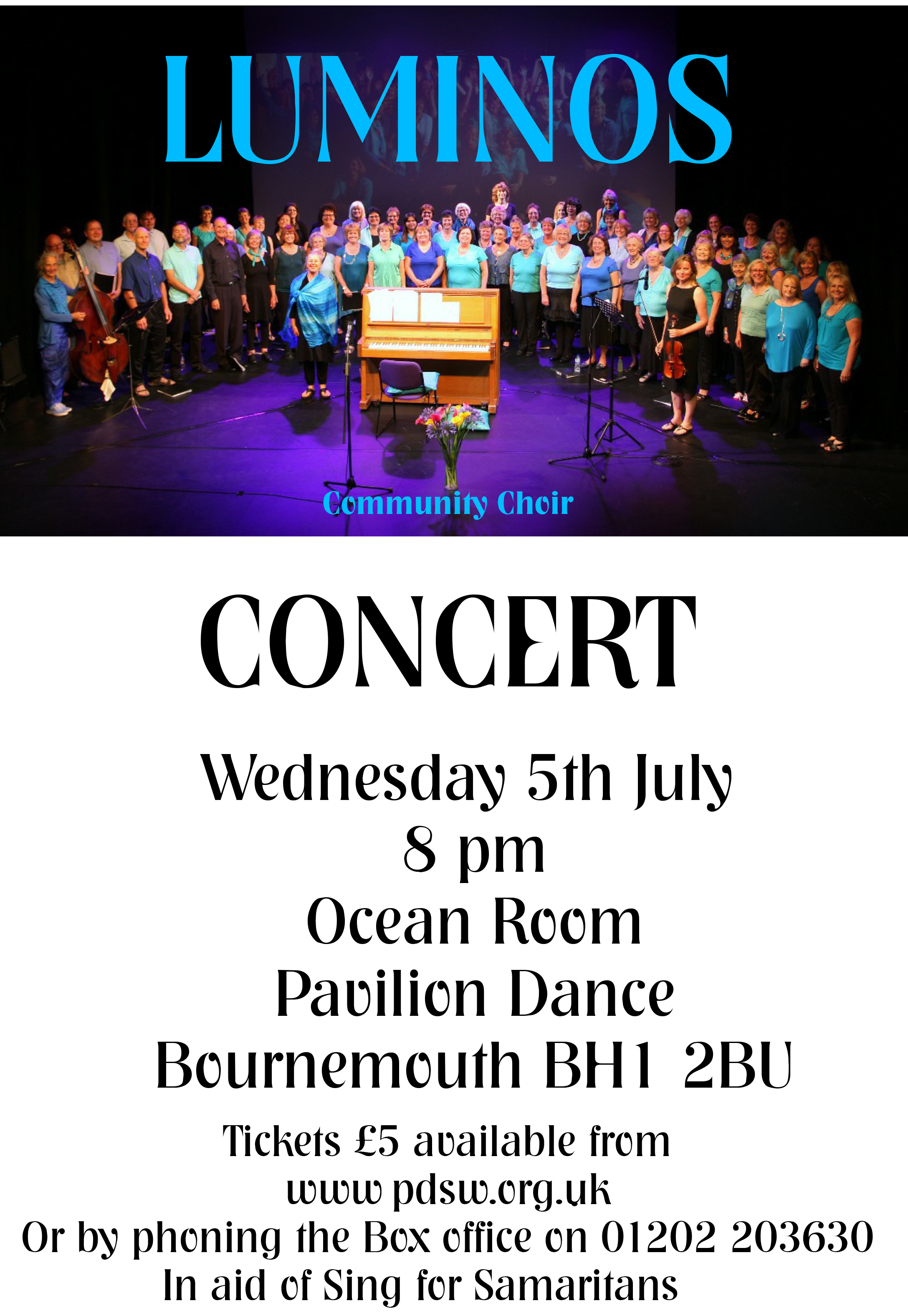 Luminos Community Choir Concert, supported by Lesley Shand