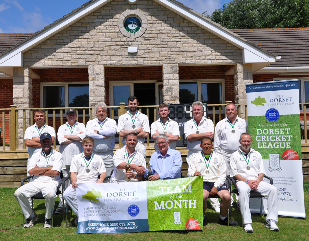 Dorset Funeral Plan Cricket League team of the month for May 2017 - Swanage Cricket Club