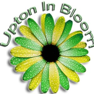 Upton in Bloom logo, sponsored by Albert Marsh