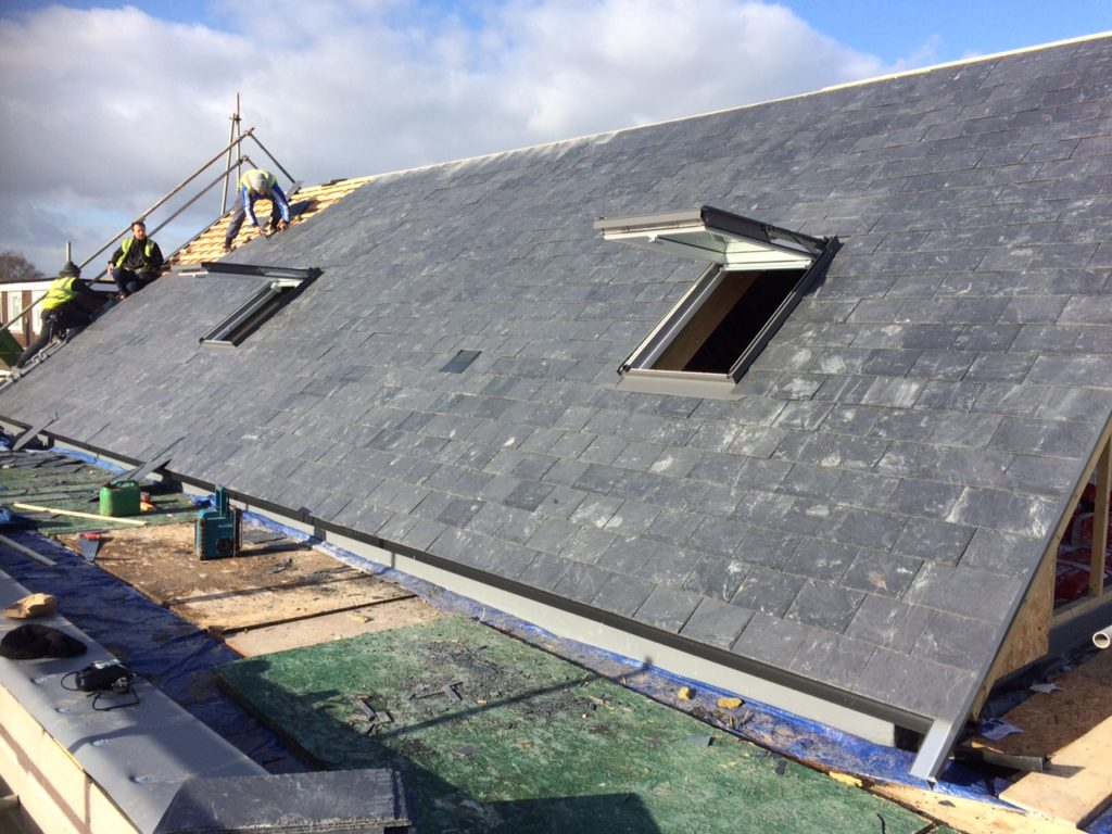 New slate roof on Lesley Shand Funeral Service