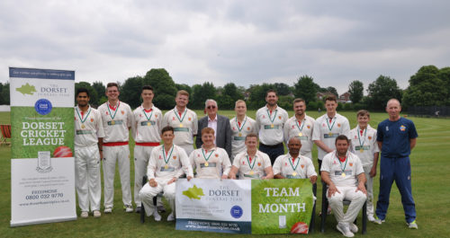 Dorchester CC First Team receive Dorset Funeral Plan Team of The Month for May 2018