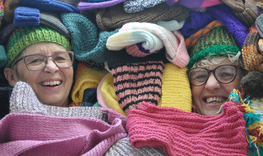 Knitters knit for YMCA