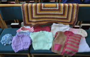 Knitted items from Douch Family Funeral Directors Knitters