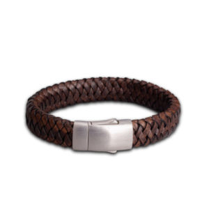 fpu-602-embrace-bracelet-braided-leather-dark brown