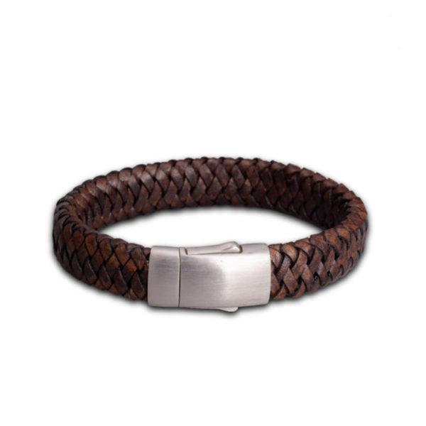fpu-602-embrace-bracelet-braided-leather-dark brown
