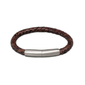 FPU 604-embrace-bracelet-braided-leather-dark-brown