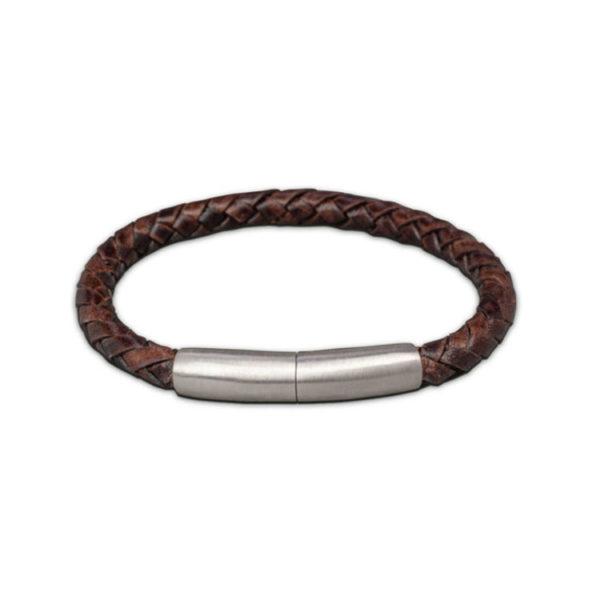 FPU 604-embrace-bracelet-braided-leather-dark-brown
