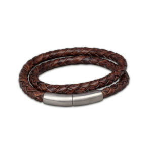 FPU 606-embrace-double-wrap-bracelet-braided-leather-brown