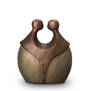 geert-kunen-designer-urn-two-figures-ceramic-bronze-urn