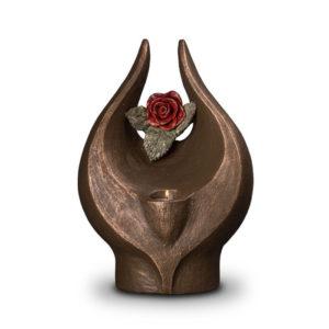 geert-kunen-designer-urn-red-rose-ceramic-bronze-urn-with-candle